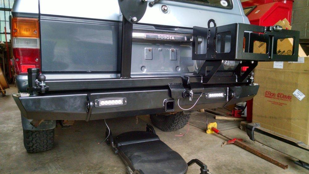 Dual Swing Out Rear Bumper