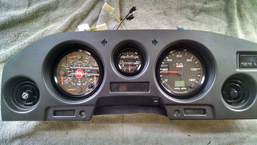 Speed Hut gauges are a common upgrade