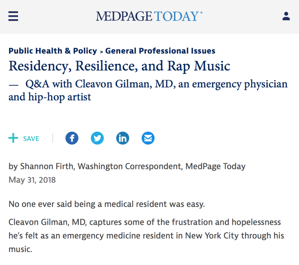 MedPage Today - Cleavon MD