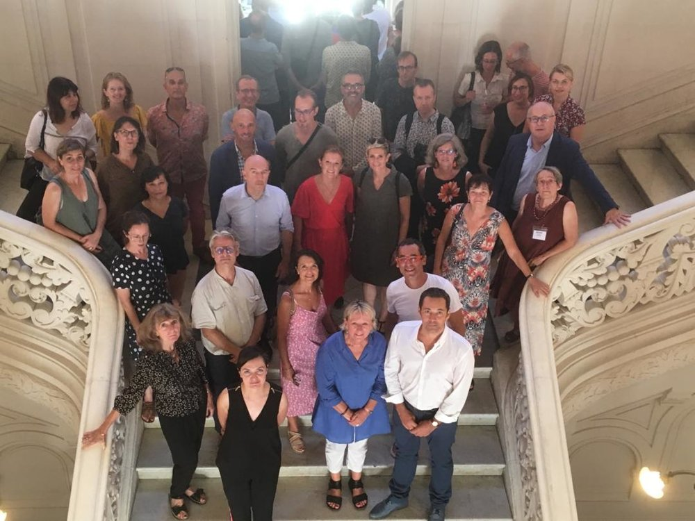 Réception des participants par la Ville de Poitiers à l'Hotel de Ville en présence des représentants de la DGCA