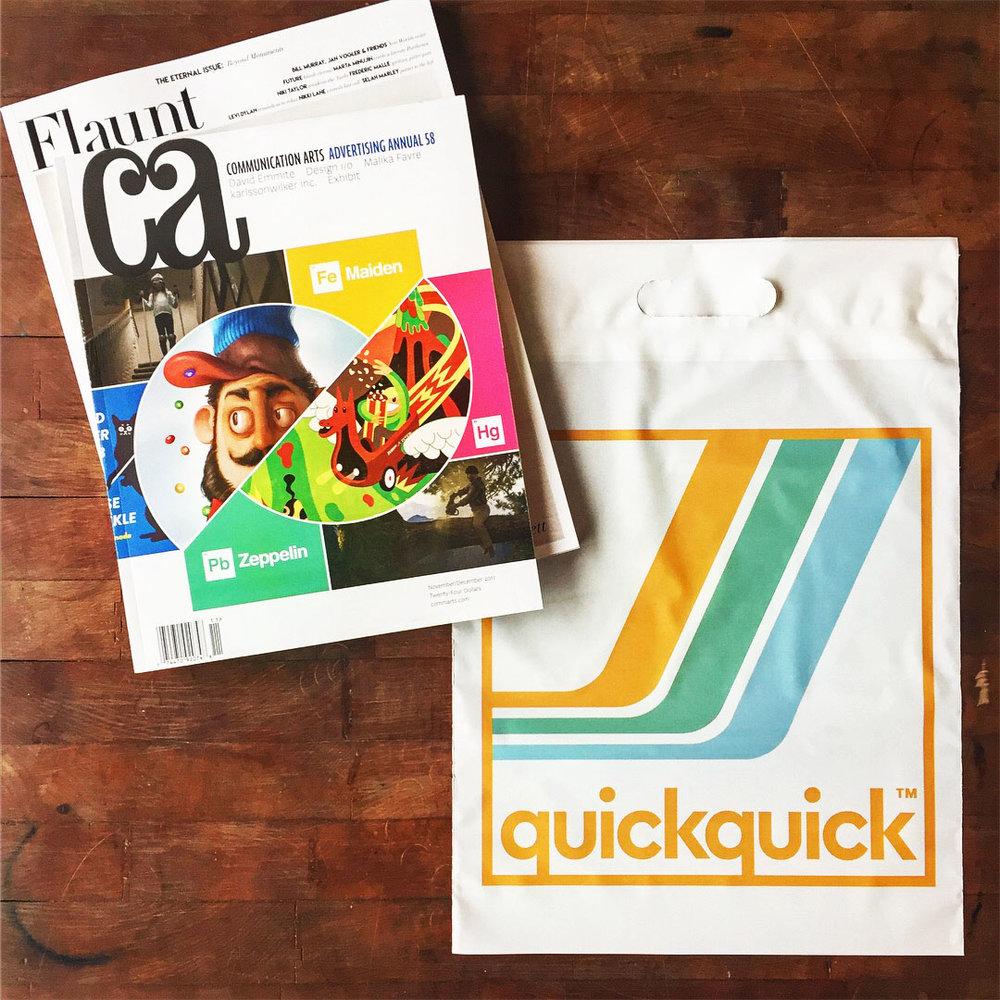 QUICKQUICK - Visual Identity, Signage, Merchandise