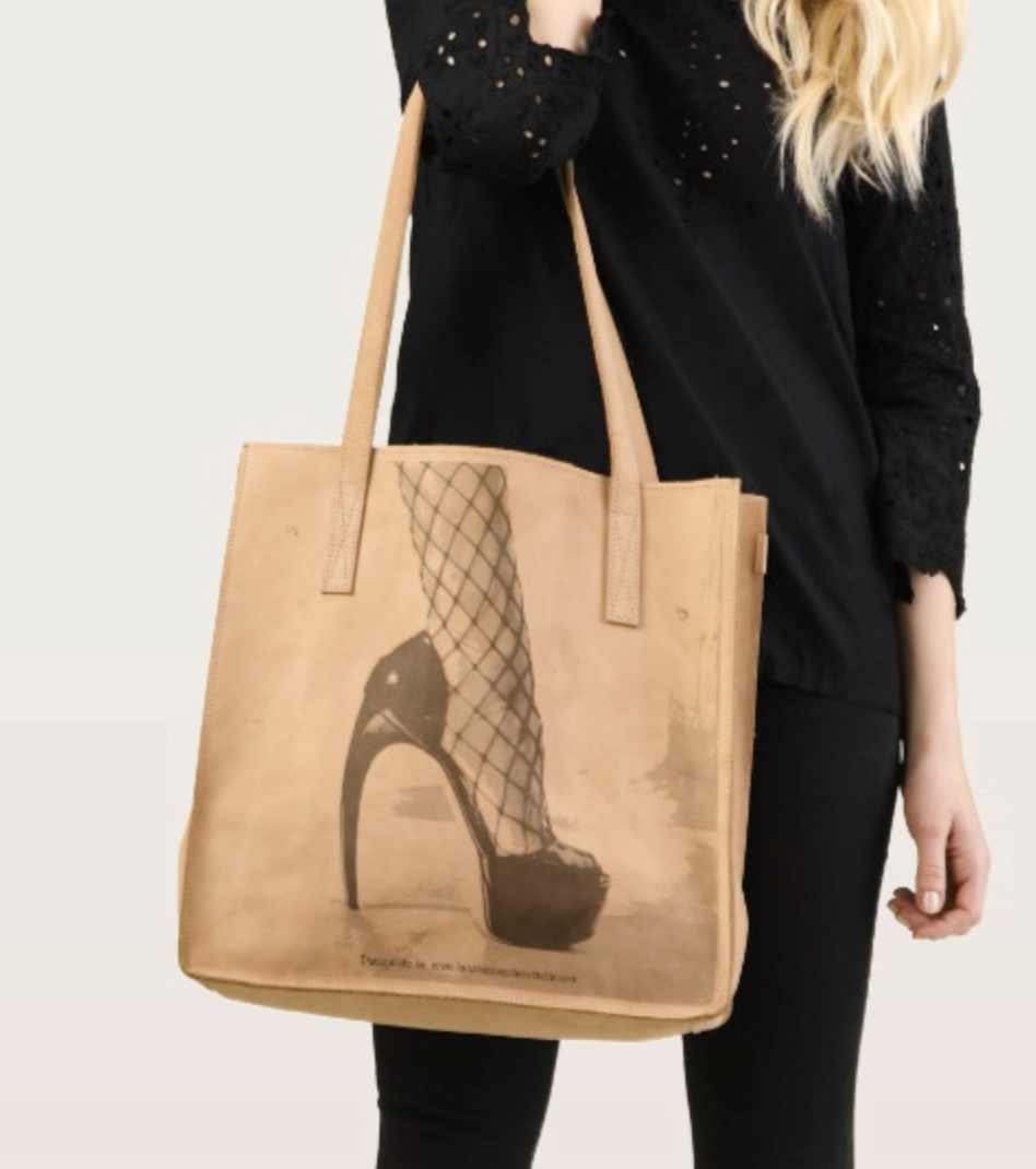 Travel In Style Leather Tote $141.56 on sale at check out