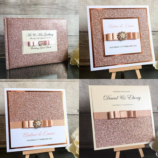 **ROSE GOLD** So many samples and items going out made in rose gold this year.  It's such a beautiful colour.  Rose gold glitter invitation cards from £2 each, pocketfolds from £2.80 each - - - #wedding #weddings #weddinginvitations #weddinginvitationsuite #weddinginvitation #weddingstationery #weddingplanner #weddingplanning #invitations #invitationcard #pocketfold #pocketfoldinvitations #weddinginspiration #bride #bridetobe #bridebookstationery #rosegold #rosegoldglitter #rosegoldwedding #rosegoldweddinginvitations #rosegoldinvitations #glitterinvitations #glitterweddinginvitations #glitter #gettingmarried #sparkle #sparkleweddinginvitations #rosegoldsparkle #luxuryweddinginvitations #handmadeinvitations