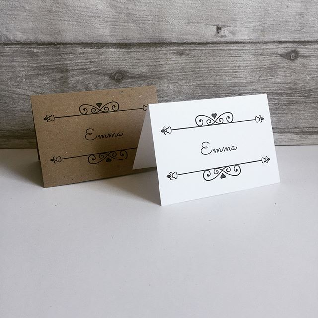 Some brand new name cards added to my Etsy shop today.  Perfect if you are on a budget, available in Kraft or white card and come completely personalised.  https://www.etsy.com/uk/shop/SpecialMomentGifts  #wedding #weddingideas #weddingplanner #budgetbride #budgetwedding #placecards #namecards #bride #bridetobe #etsy #etsyshop #etsyseller
