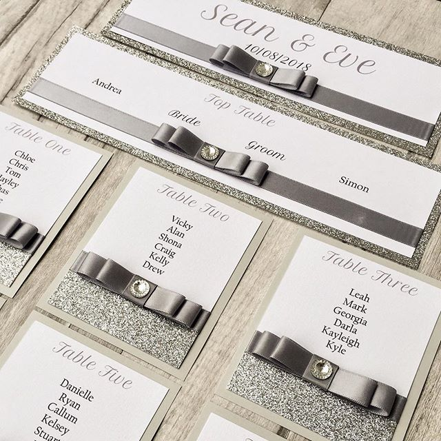 *TABLE PLAN CARDS* Definite increase in orders for these this year, they are perfect for mounting on to a mirror or frame and look FABULOUS!! Order from our Etsy shop here     https://www.etsy.com/uk/listing/597681346/silver-table-plan-cards-diy-table-plan