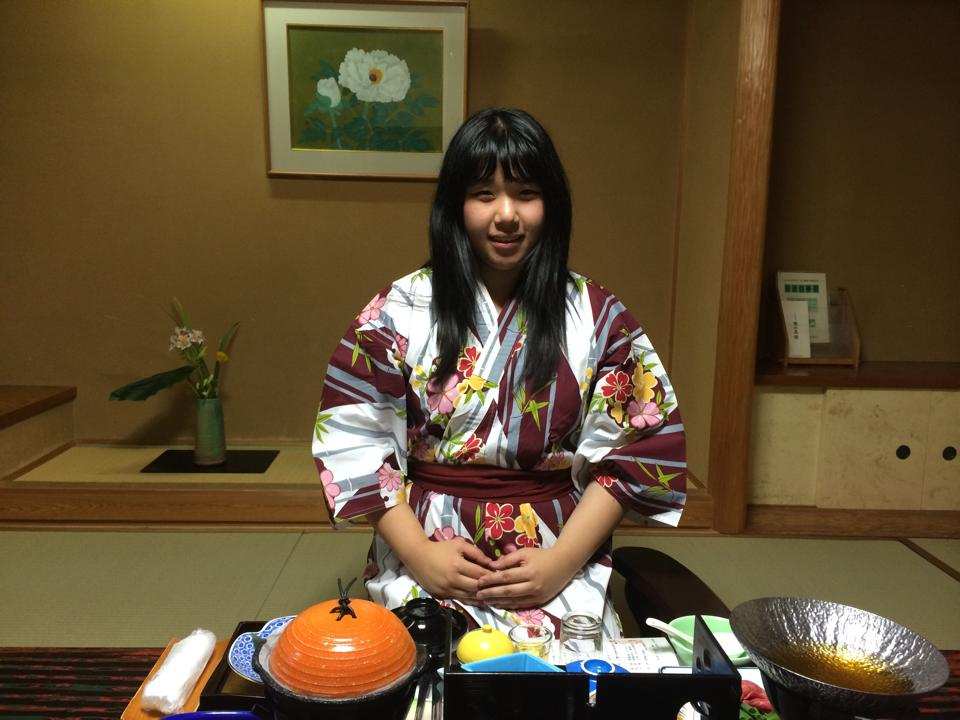 About to eat at my favorite ryokan, Yunoshimakan in Gifu.
