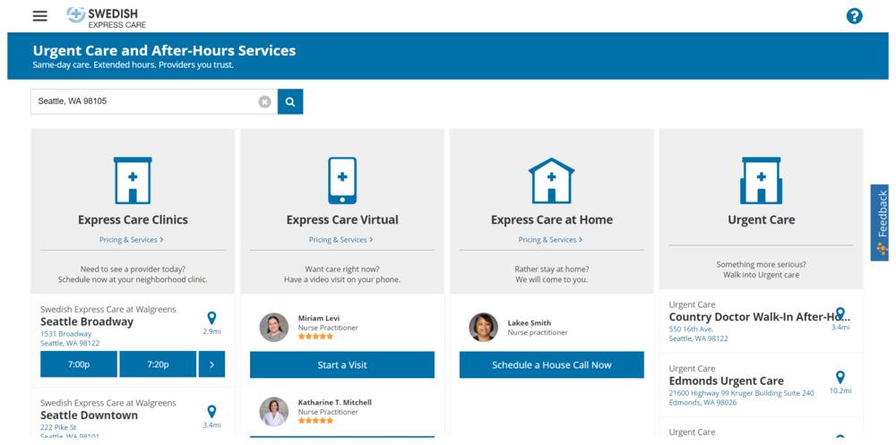 Swedish Express Care Homepage