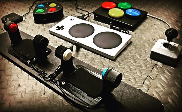 here's just a sneak peak of some of the #XboxAdaptiveController peripheral plug-ins we will be selling 🎮 Stay tuned on our facebook: Warfighter Engaged  Twitter: @WFEngaged and our website www.warfighterengaged.org for updates #gamingforeveryone #accessibility #accessibletech #accessiblegaming #adaptivegaming #a11y #xbox