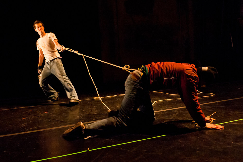 Knife / Tape / Rope  with Jeremy Pheifer and Robert Maynard, American Realness, 2012   Photo: Ian Douglas