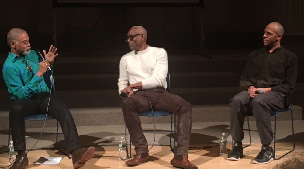 Platform 2016: Lost and Found ,  a  conversation with Bill T. Jones by co-cuators Ishmael Houston-Jones and Will Rawls at Danspace Project   photographer unknown