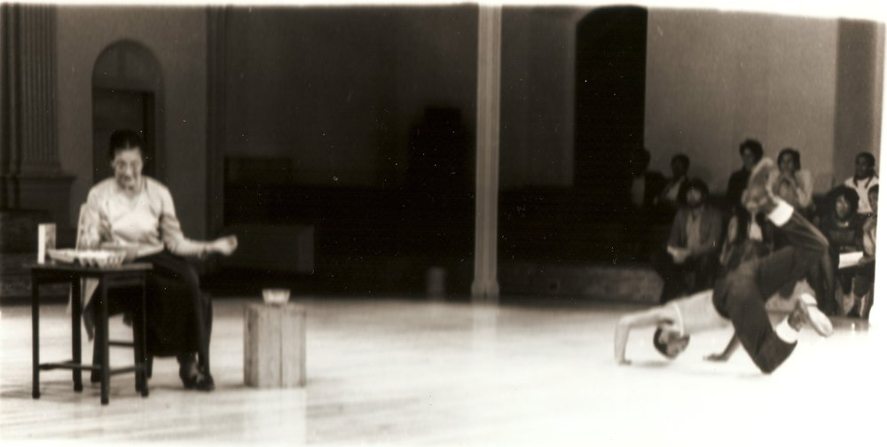 Part 2: Relatives , With Pauline Houston Jones and Ishmael Houston-Jones, Danspace Project, 1982,   Photo: Pamela Moore