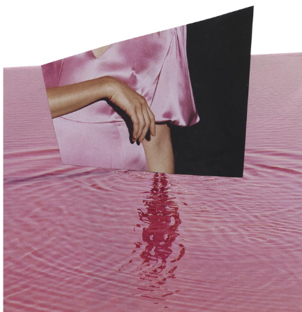 There's blood in the water but the world could change its heart.  Serrah Russell, photographic collage, 2017