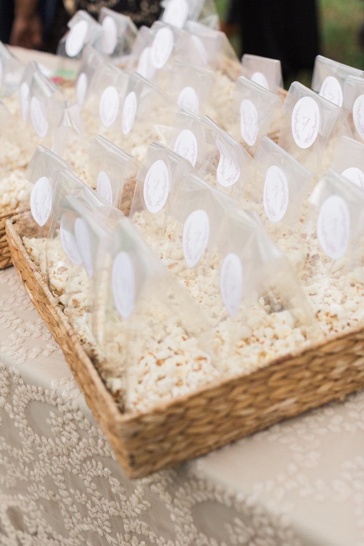 Truffle popcorn to enjoy pre-ceremony