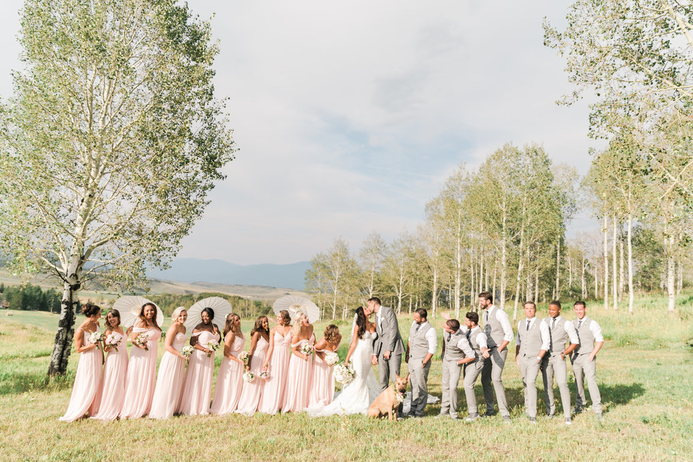 Bridal Party Dresses: Dessy Collections Suits: The Black Tux, Shoes: Custom Converse