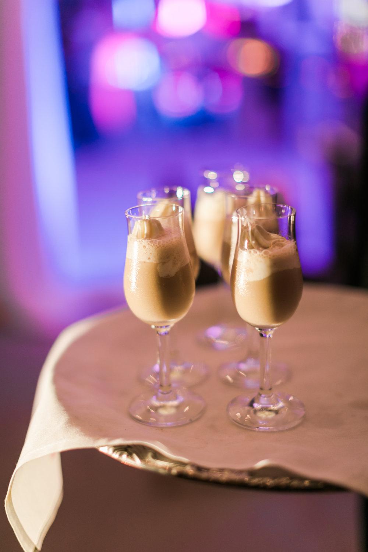 White Russian milkshake shots