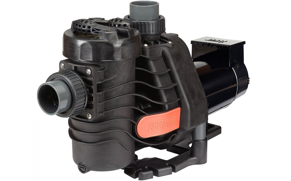 Speck® EasyFit® - The Speck EasyFit pump is a versatile, high performance pool pump. With universal fittings, saltwater compatibility, dry run protection, and unmatched durability, the EasyFit saves time and money for you and your customers.