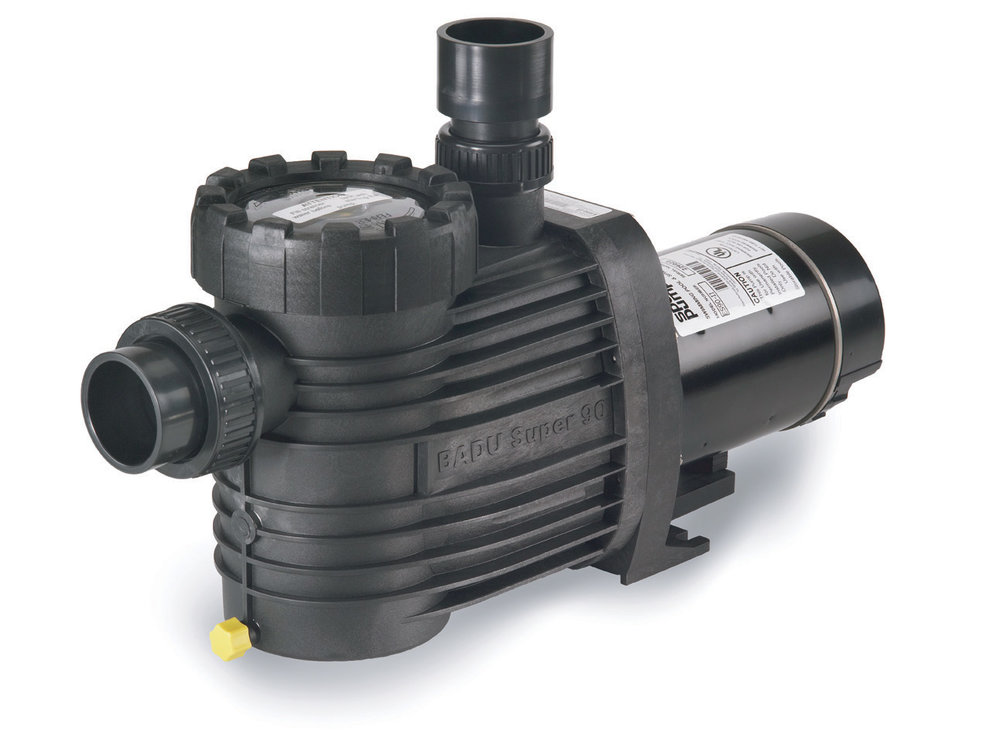 Speck® ES90 - The Speck Model ES90 medium head pump has been engineered for durability and quiet performance. This all-plastic, self-priming pump with a large basket is ideally suited for small to medium in-ground pools.