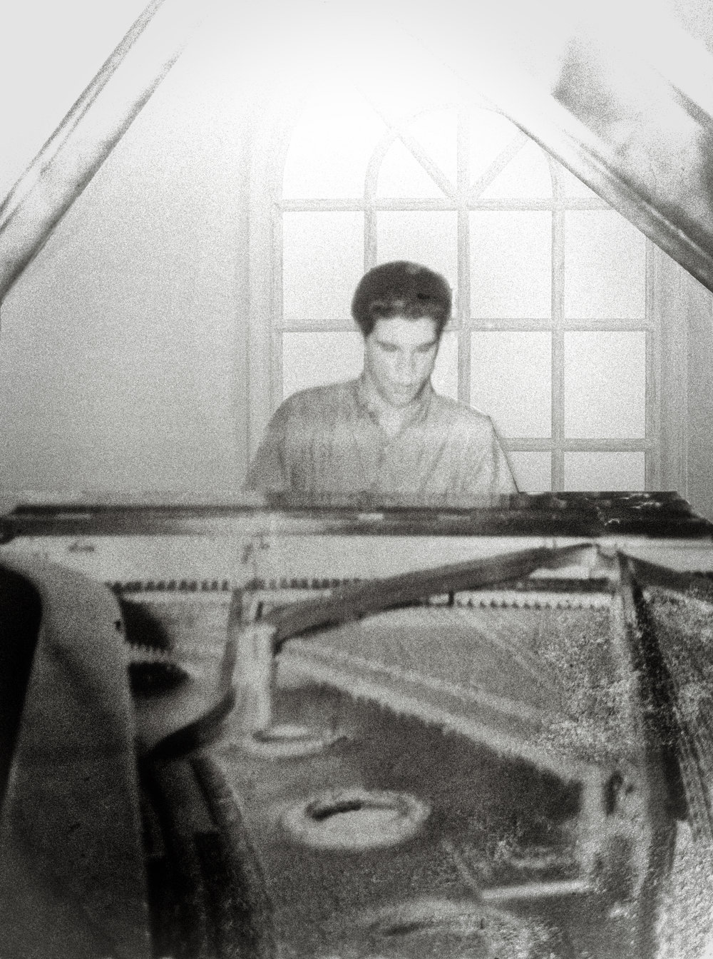 Carli Munoz in playing his Steinway D at home in the early 1960s