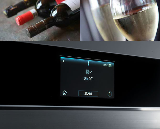 BOTTLE COOLING - It takes just a few minutes to chill wine, cool soft drinks and offer guests fresh aperitifs. Freddy cools bottles at a speed of approximately + 1° C per minute, ensuring the pleasure of enjoying drinks at their ideal temperature. You're always ready when unexpected guests turn up.