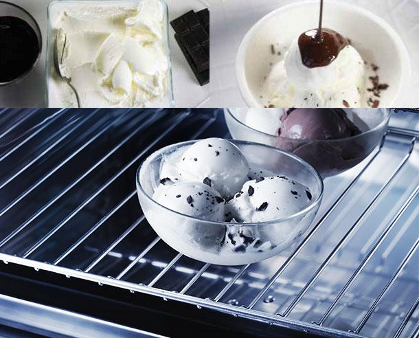 Διατήρηση - Αυτή είναι η λειτουργία που προσαρμόζεται στις πιο σύγχρονες ανάγκες και πληροί όλες τις απαιτήσεις, διότι σας επιτρέπει να επιλέξετε την ιδανική θερμοκρασία, από τους -20°C έως τους +80°C, για να διατηρείτε το φαγητό σας, ακόμα και το πιο ευαίσθητο, όπως το παγωτό(-12°C), το φρέσκο ψάρι (+2°C) και η λιωμένη σοκολάτα σε μπαιν μαρί(+40°).