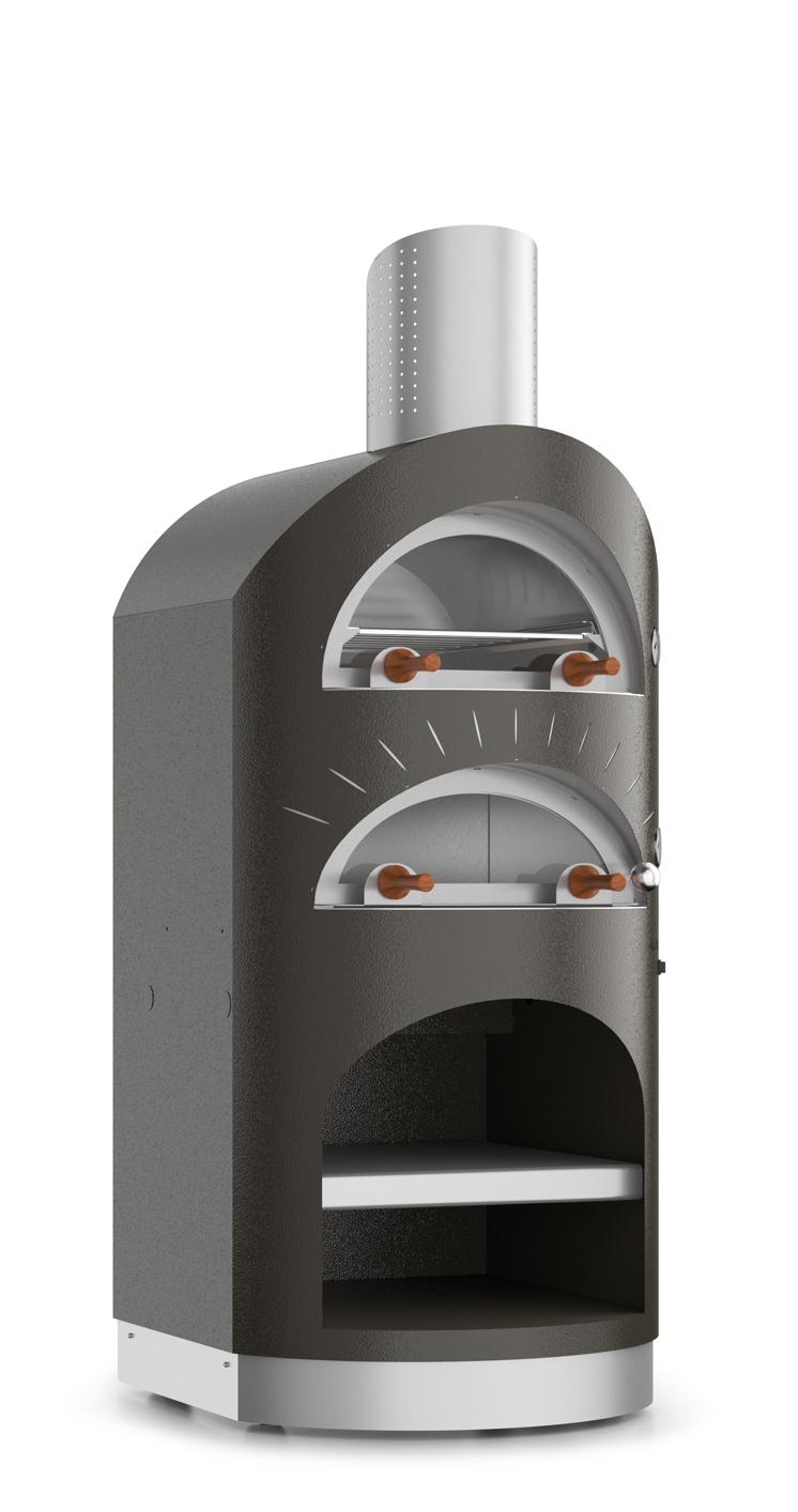 Duettino εσωτερικού χώρου - Ο καινοτόμος σχεδιασμός και το μοναδικό στιλ χαρακτηρίζουντο Duettino. Αυτός ο φούρνος μεκομψό,γραμμικό και μινιμαλιστικό σχέδιο,σας επιτρέπει να μαγειρεύετε άμεσα και έμμεσα, χάρη στοσύστημα πολλαπλούμαγειρέματος, ενώ ταυτόχρονα λειτουργεί ως πραγματική εστία θέρμανσης του δωματίου . Το Duettino θα είναι το αστέρι του σπιτιού σας.