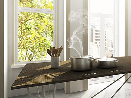 Tpb tech - Αόρατο μαγείρεμα, η πρώτη επιφάνεια εργασίας στον κόσμο που γίνεται και επιφάνεια μεγειρέματος, δείτε το tpb tech