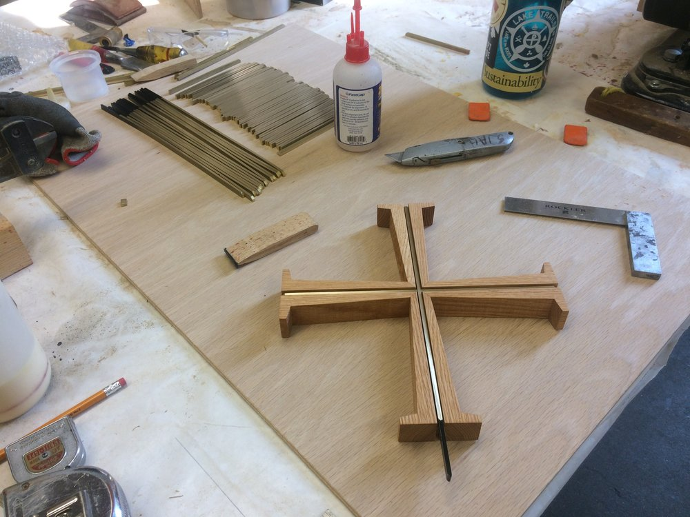 Besides furniture, I help build Saint John's crosses with  Saint John's Abbey Woodworking . Find them for sale  here !