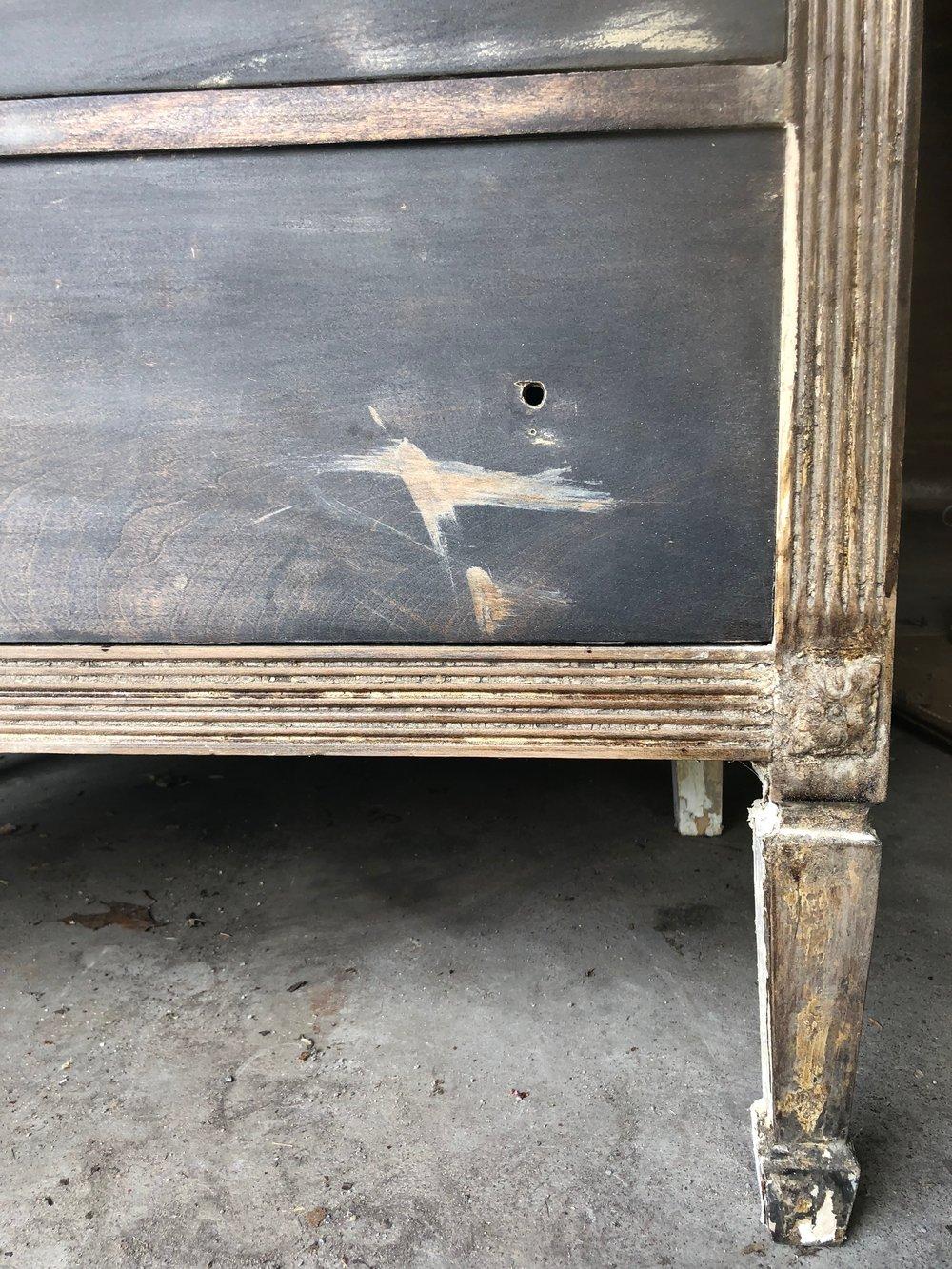 1920s dresser before floral carving