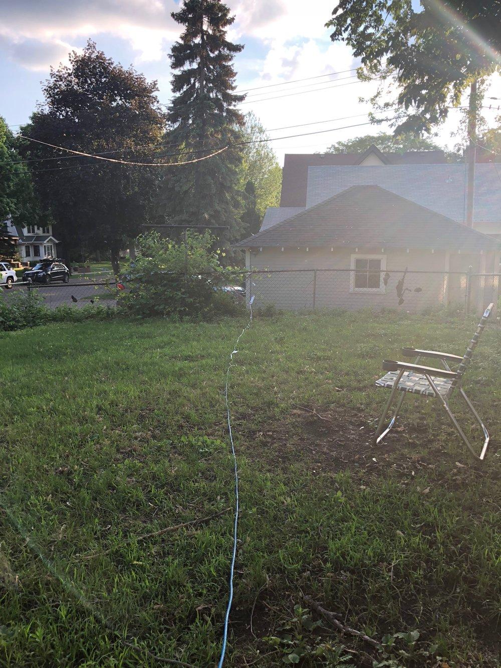 extension cord backyard