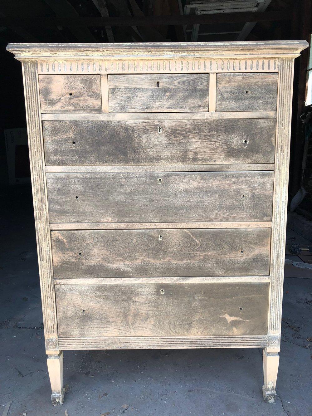 1920s dresser sanding progress