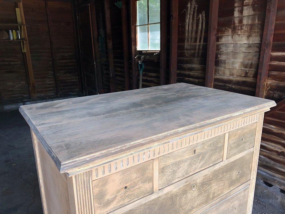 1920s dresser top sanding progress
