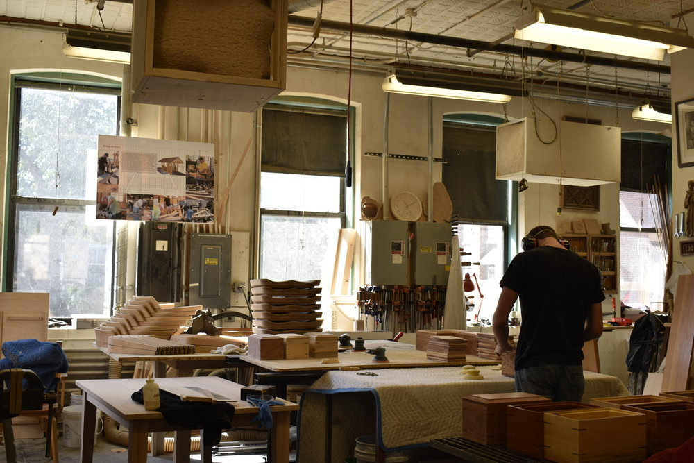 Shown above is one of the main rooms of our shop - multiple projects are in progress, which is typical of any given day at the shop.