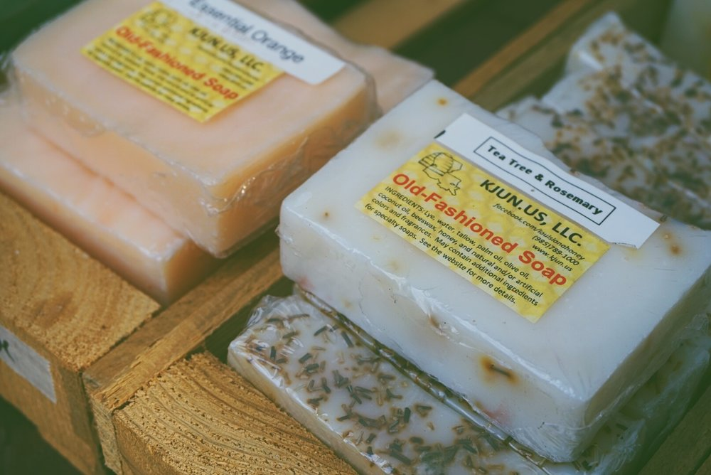 The vendors were also in abundance  These homemade soaps by  Louisiana Honey & Beeswax  smelled amazing!