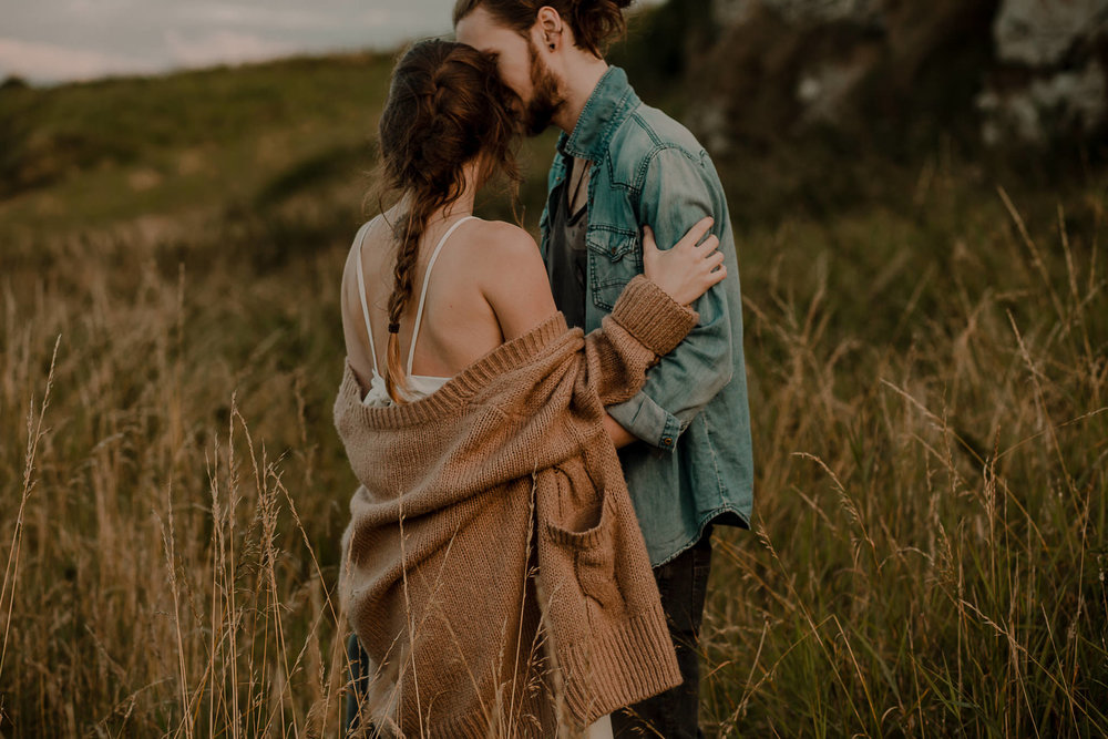 hipster couple pre wedding adventure session ireland