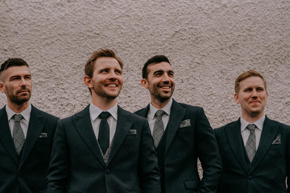 groom and groomsmen portraits Northern Ireland Wedding Photographers
