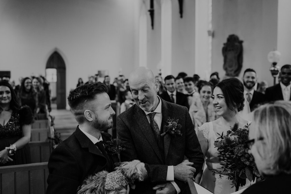 father of the bride and groom ceremony