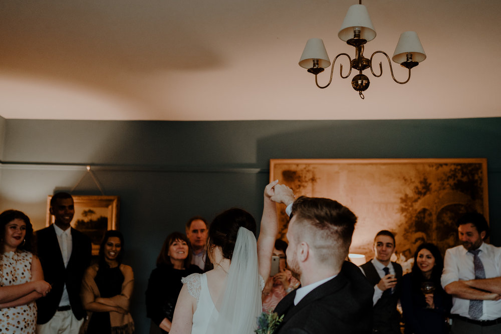first dance  wedding at lissanoure castle