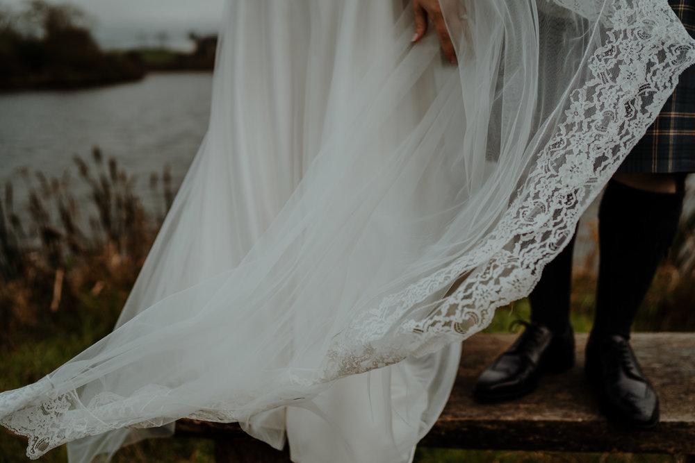 halfpeeny london wedding dress  wedding at lissanoure castle