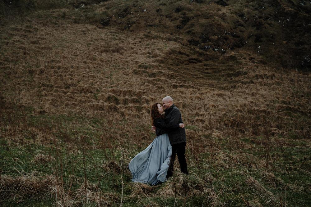 couple kissing kinbane castle