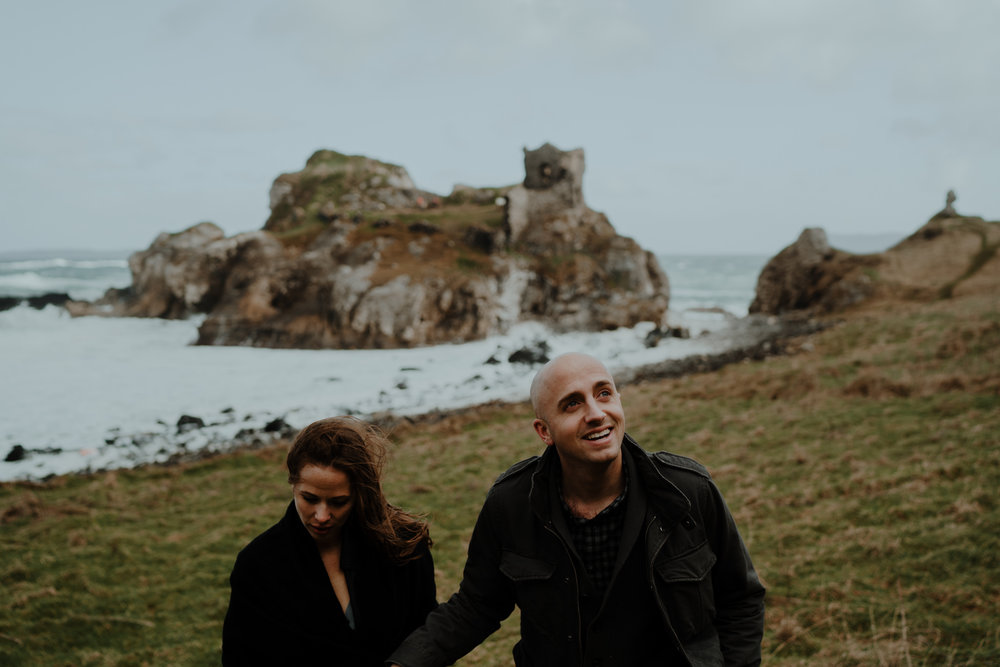 travel adventure kinbane castle rad couple
