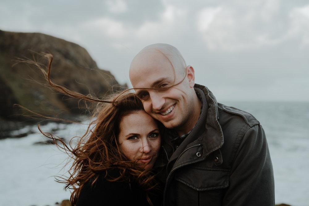 beautiful couple kinbane castle windy adventure