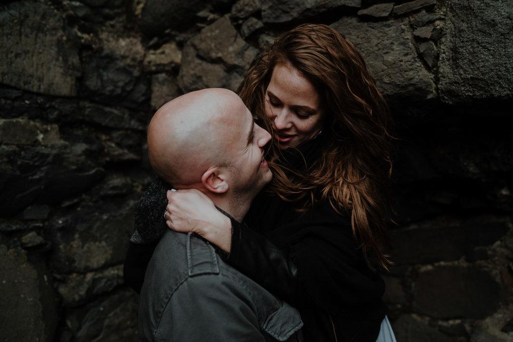 kinbane castle couples adventure photographers NI