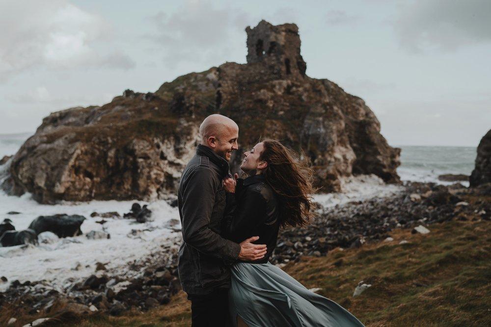 kinbane castle adventure elopement northern ireland photographers