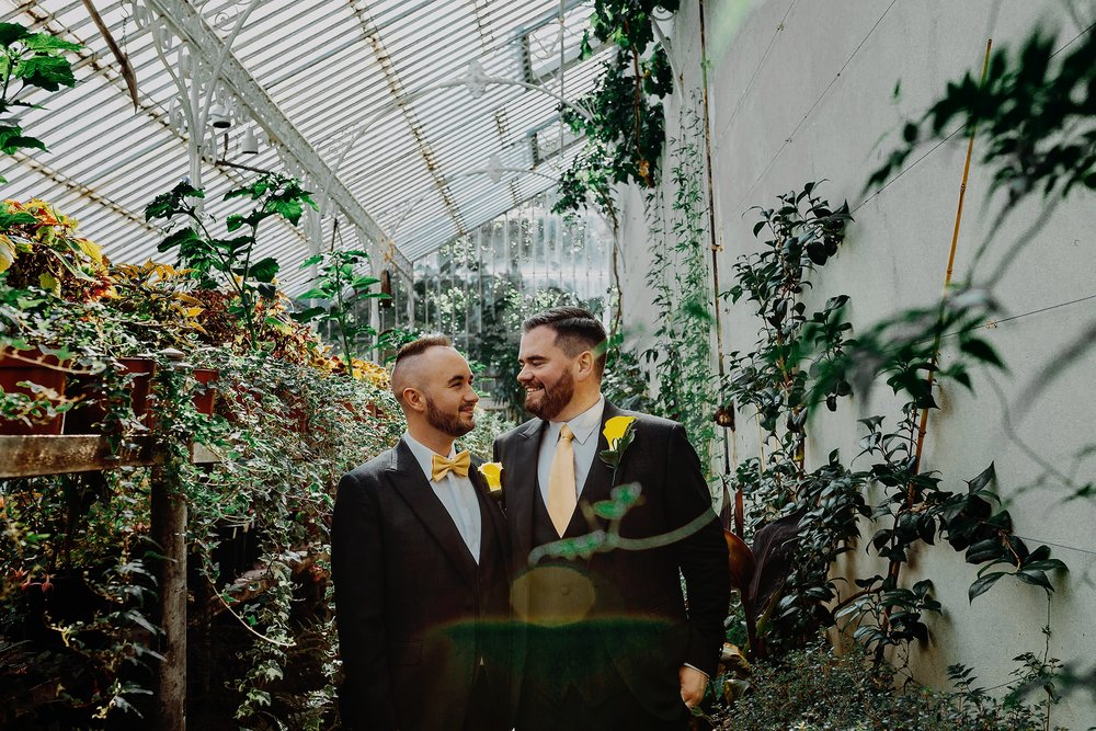 lgbt wedding photographers belfast botanic gardens