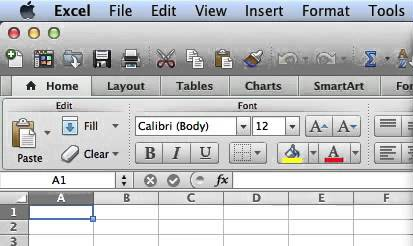 Version 2011 for Mac - Look for the word Home near the top-left of the screen with an icon of a house next to it.  Compare the design to the Excel example shown to the left.Excel has Excel at the left of the menu bar.Word has Word at the left of the menu bar.PowerPoint has PowerPoint at the left of the menu bar.