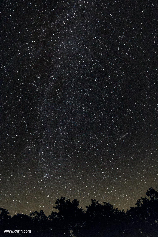 La pureté du ciel était incroyable dans les Vosges…