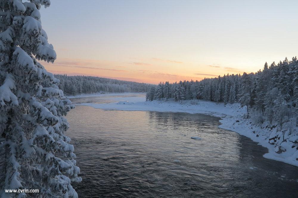 La cascade de Jockfall sur le Kalix Älv