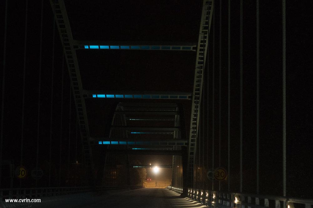 Le pont qui fait frontière avec la Finlande.