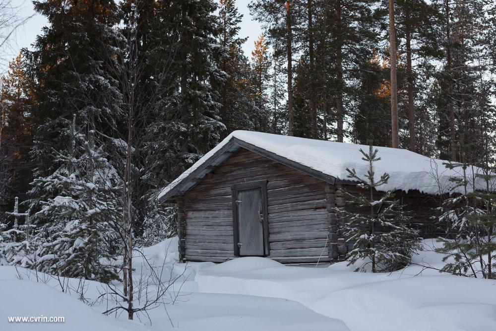 Le chalet dédié à la réserve de bois!