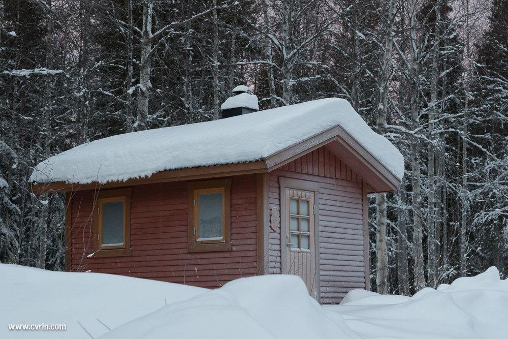 Le chalet sauna!